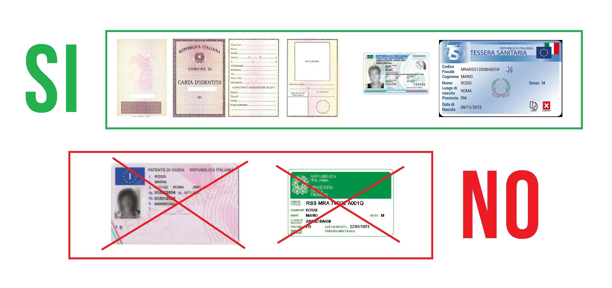 carta di identità per spid