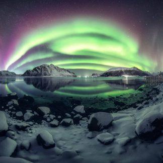 Aurora Boreale a Natale in Lapponia